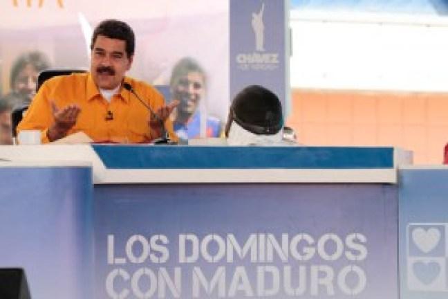 """El presidente Maduro en el progama """"Los domingos con Maduro"""""""
