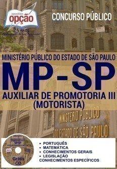 Apostila Concurso MP SP 2016 - Auxiliar de Promotoria III (Motorista)