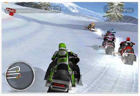 Screenshot Snow Moto Racing