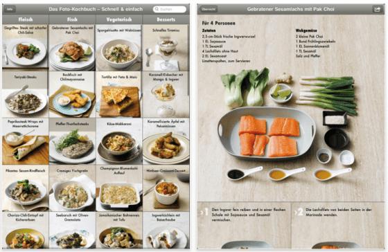 Screenshot Das Fotokochbuch für das iPad