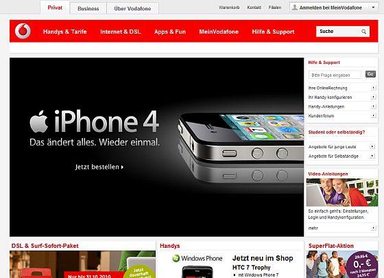 Vodafone Startseite