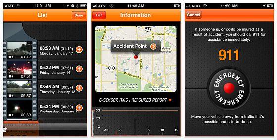iCarBlackbox für iPhone Auto Blackbox Screenshots