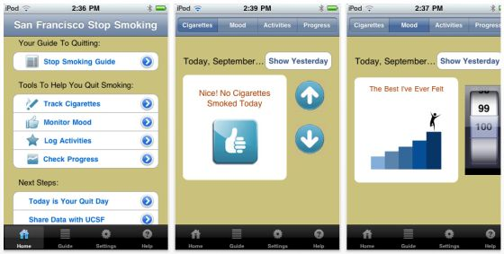 UCSF/SFGH Stop Smoking Screenshots