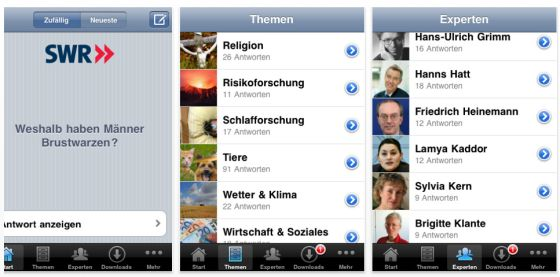 1000 Antworten Universal-App Screenshots