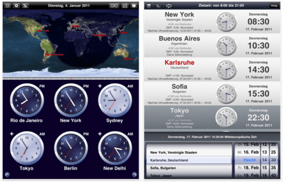 Weltzeituhr - The World Clock Screenshots