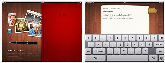 Gute Tagebuch-App für das iPad in deutscher Sprache – The Diary ist kostenlos und werbefrei