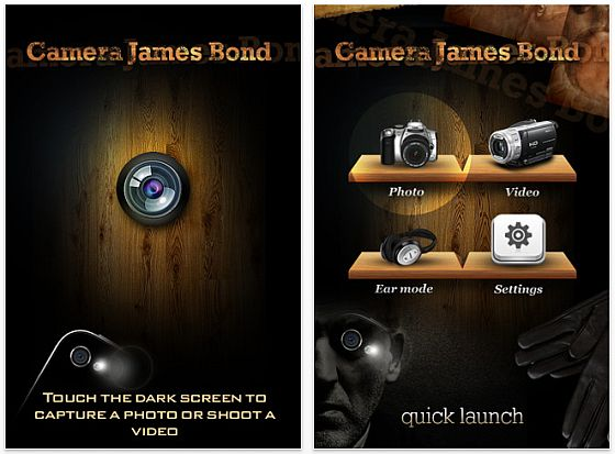 Camera James Bond iPhone Spionage Kamera Screenshot