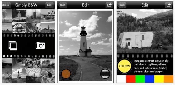 Gute App für Schwarzweiß-Bilder auf iPad oder iPhone gerade kostenlos