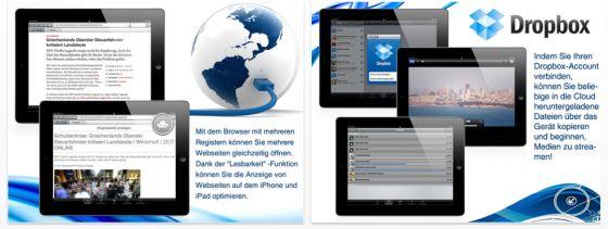 Amerigo Download Browser für iPhone, iPod Touch und iPad