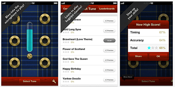 Screenshots Air Pipes - Bagpipes for iPhone