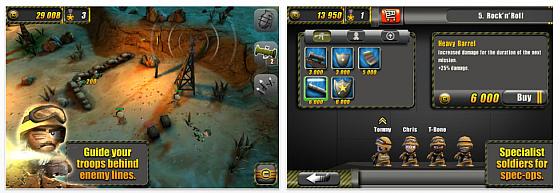 Tiny Troopers von Chillingo Screenshots der Spiele-App für iPhone und iPad