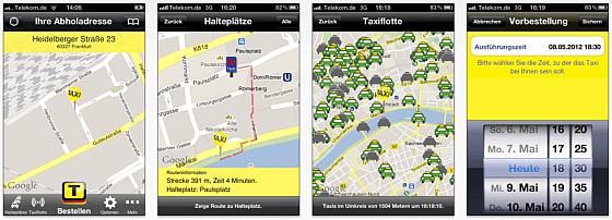 Taxi Deutschland - Screenshots der Taxi-App