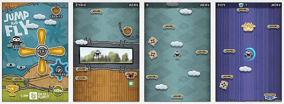 Einfache Grafik, einfaches Spielprinzip: Bei Jump and Fly kann man sofort losspielen.