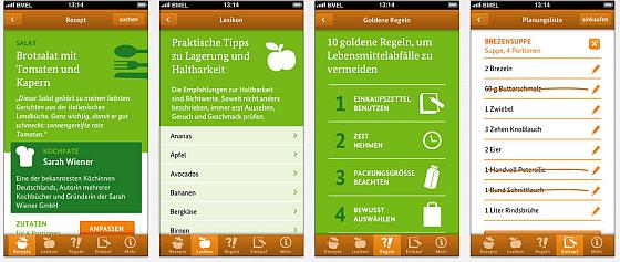 Zu gut für die Tonne - App - Screenshots