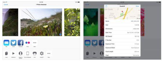 Links siehst Du die Auswahlmaske, rechts die Exif-Daten mit Einzeichnung des Aufnahmeortes in GoogleMaps und den Einstellungen, die beim Fotografieren gewählt wurden. Auch das Aufnahmedatum wird Dir angezeigt.