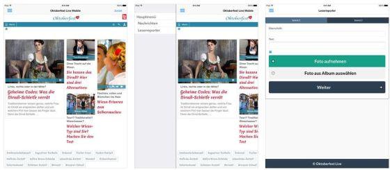 Oktoberfest Live ist die Oktoberfest-App der Münchner Tageszeitungen tz und Merkur.