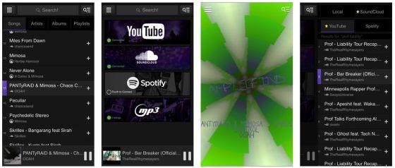 Mit Amplifind greift man von der App aus auf verschiedene Musik-Bibliotheken zu und kann sich individuelle Playlists zusammenstellen, die dann gestreamt werden.