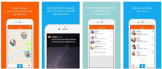 Mit Familonet wisst Ihr, wo Eure Kinder oder Eure Eltern sich gerade befinden. Majn kann die App auch im Freundeskreis nutzen, wenn man sich bessser finden will.