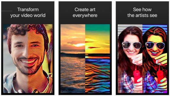 Mit Artisto kannst Du Deinen kurzen Videoclips einen künstlerischen Touch verleihen.