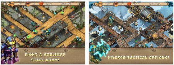 Dieses Steampunk Tower-Defense-Spiel führt Dich ins Innere der Erde, wo Du gegen immer neue Horden von Robotern kämpfst, die die Menschheit versklaven wollen.