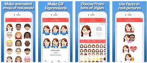 """Mit Emoji Me GIF Face Maker sollte man eigentlich jedes Gesicht """"nachbauen"""" können, es gibt Millionen Kombinationsmöglichkeiten."""
