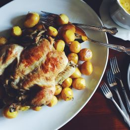 Lemon Thyme Roast Chicken and Potatoes