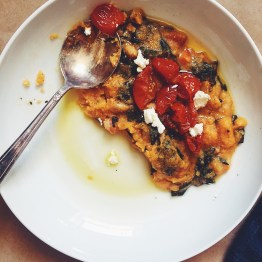 Polenta with Kale and Slow-Roasted Tomatoes