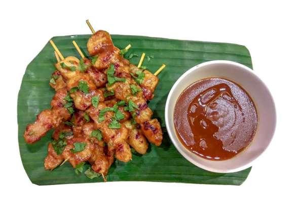 BBQ Satay Platter (Pork and Chicken/ 8 sticks) Php330