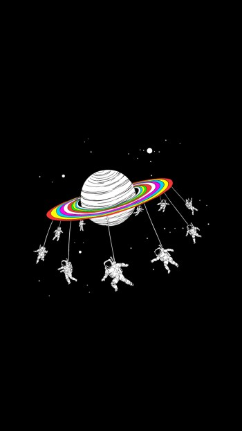 astronauts-merry-go-round-planet-space-iphone-6-hd-wallpaper