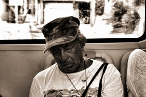 Asleep on Bus