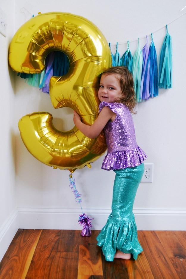 Mermaid inspired birthday