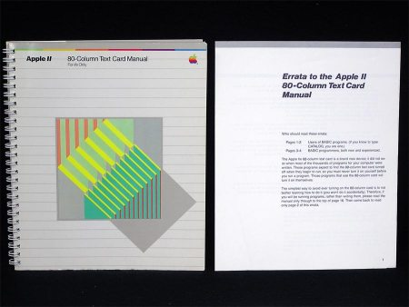 Apple II 80-Column Text Card Manual