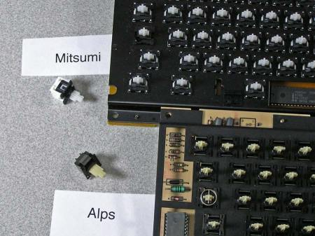 Macintosh M0110 Keyboard Key Switch & Parts