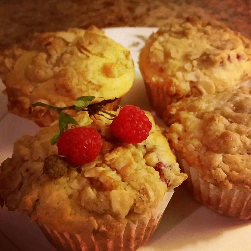 Raspberry Almond Strudel Breakfast muffins