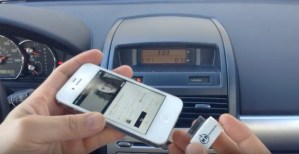 iPhone car sound system aux free connection guide