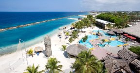 Largest resort beach on the island with more than 100 sq. ft. of beach front per room.