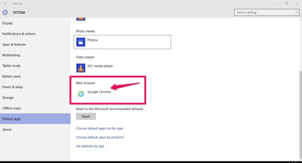how to change chrome to default browser