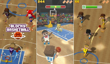 Download Blocky Basketball Endless Arcade Dunker for PC