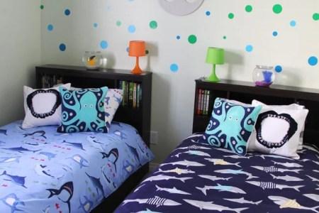 boys shark theme shared bedroom a pretty life in the suburbs