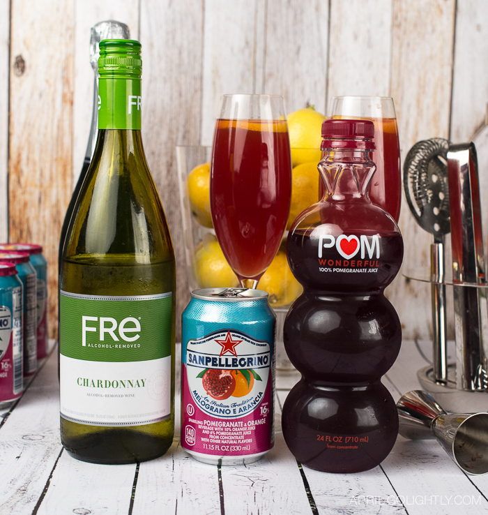 pomegranate spritzer mocktail-1463