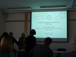 Catherine Bebout organized a great talk, though there was never enough time to hear everyone!