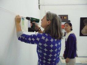 Nel organized the portfolio and the exhibition