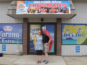 April and John Timothy at Pro's for Frogman Bowling Tournament