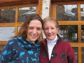my studio mate Johanna Mueller with her mother