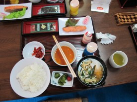 Japanese breakfast was included