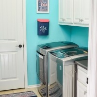 Bright Organized Laundry Room Reveal