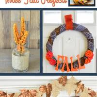 One Estate Sale Fall Wreath = Three Modern Fall Projects!