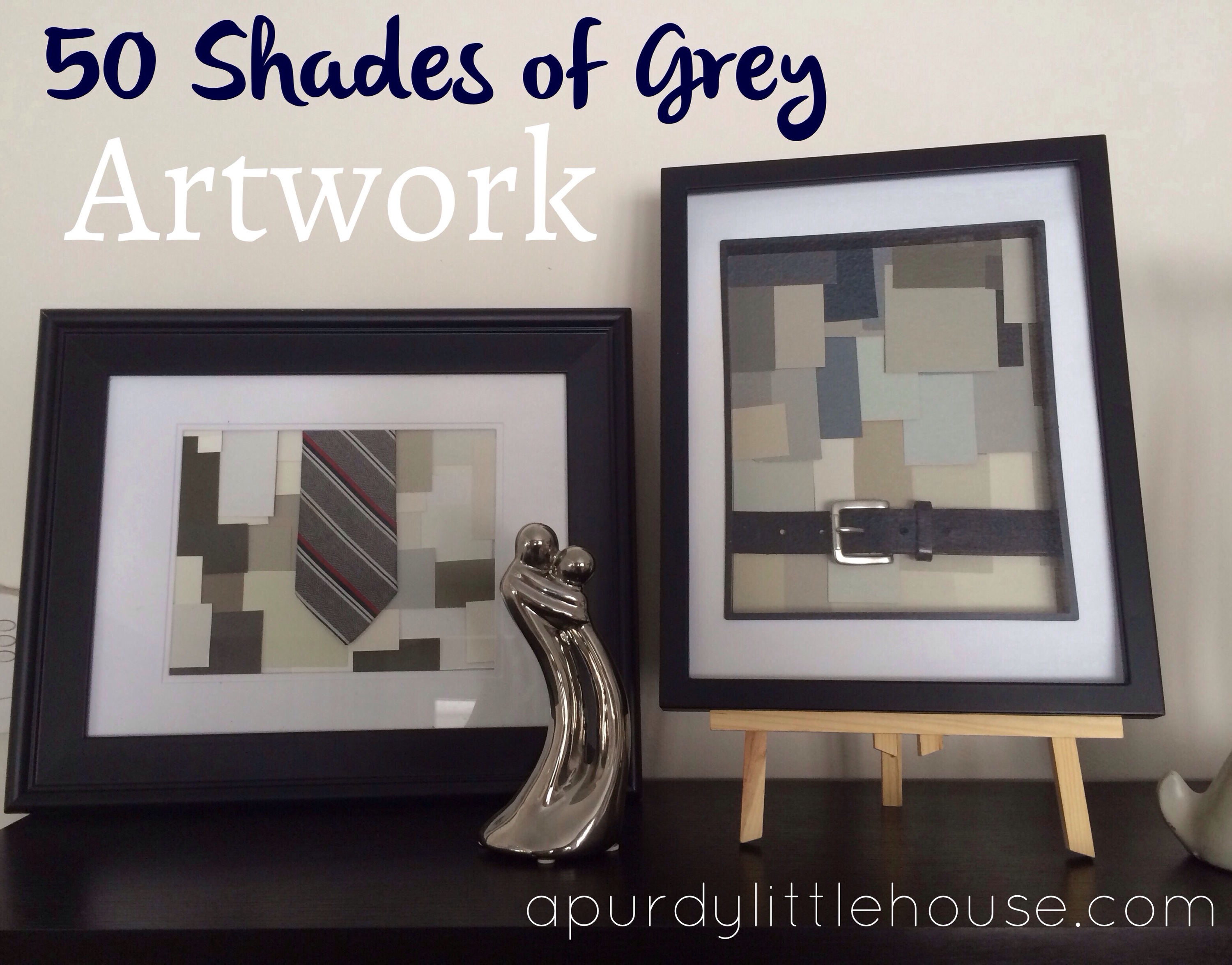 Fifty shades of grey artwork a purdy little house 50 shades of grey house