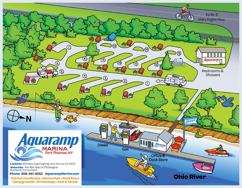Aquaramp Campground Map 2015