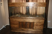 5ft AQUARIUM, FISH TANK WITH HAND MADE UNIQUE SOLID WOOD STAND & LID